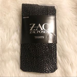 ZAC POSEN Black and Grey Tights